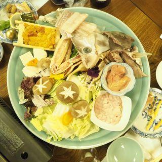 鍋物各種(泳ぎいか・ふぐ・いわし・大阪懐石料理・遊食遊膳 笹庵 (ささあん))