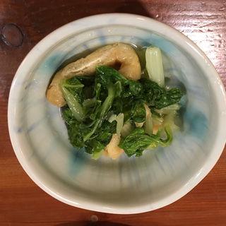 揚げとほうれん草のおひたし(旬菜料理 安庵)
