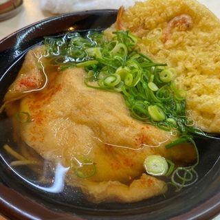 たぬきそば+天ぷら(なんばうどん )