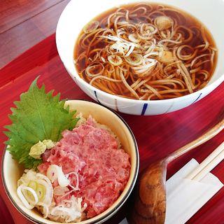 ネギトロ丼セット(そばじ アトレ川崎店)