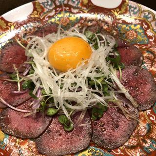 牛タンユッケ(新橋焼肉 おおば)