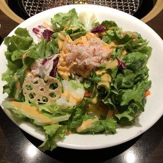 蟹とウニ風味のトマトパスタサラダ(ワンカルビ Plus+ 伊丹南野店 (ワンカルビプラス))