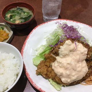 チキン南蛮定食(味噌汁ご飯付き)