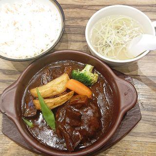 牛タンハンバーグ定食(牛たん炭焼 利久  ラゾーナ川崎店)