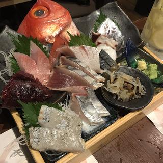刺身盛り合わせ(魚と酒 はなたれ 横浜東口店 (【旧店名】海を愛する はなたれ小僧 横浜東口店))