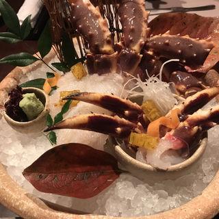 生タラバガニ刺身(蟹工船)