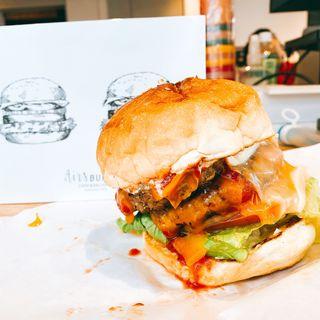 ダブルチーズバーガー(airs burger cafe)