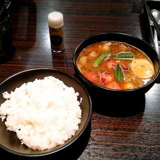 ローストチキンスープカレー(カレーハウスCoCo壱番屋 東新宿駅前店)