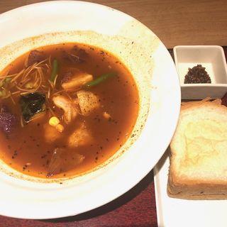 カレースープセット(花旬庵 大井町店 (カシュンテイ))