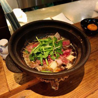 猪肉とせりのすき焼き(酒井商会)