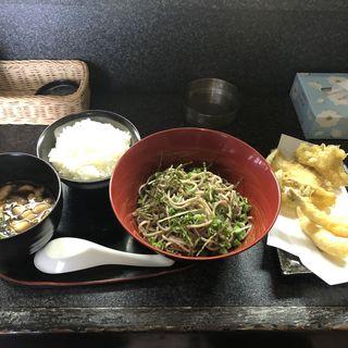 ざる蕎麦と天ぷら盛合わせ(天ぷらさと )