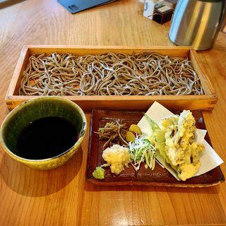 舞茸天薬味そば切り(大盛り)(板蕎麦 香り家 )