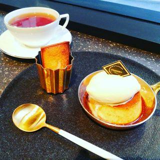 ネオクラシックプリン(ドリンク+フィナンシェ付)(ちひろ菓子店)