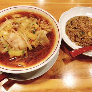 炒飯セット スタミナラーメン(奈良天理ラーメン 天風 豊川店)