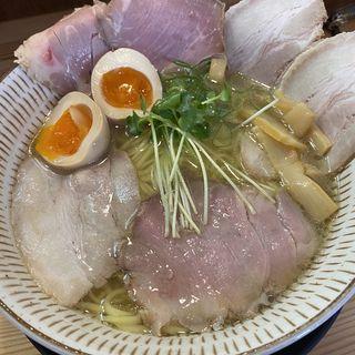 淡麗塩チャーシュー麺(わ河馬 (わかば))