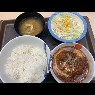 ブラウンソースハンバーグ定食(松屋 新宿大ガード店 )