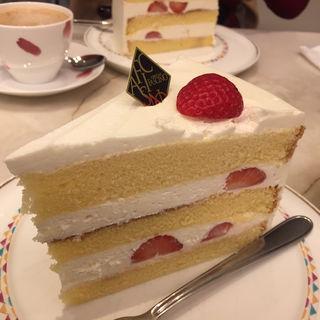 イチゴのショートケーキセット(ロビーカフェ・ファシーノ (LOBBY CAFE FASCINO))