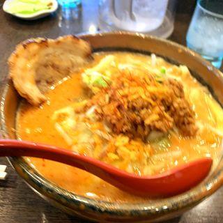 辛味噌野菜ラーメン(焼豚トッピング)(麺場 田所商店 本店)