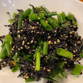 青海苔のキムチ(韓国家庭料理 オウリム )