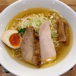鶏そば塩(名古屋コーチン 麺屋 鳥しげ 名古屋PARCO店)