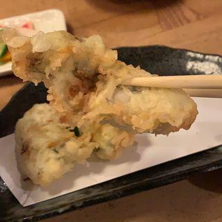 季節限定牡蠣天蕎麦(信州そば むら田)