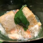 海老芋蟹餡かけ
