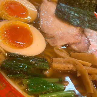 特性醤油平打麺