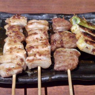 北の黄金鶏 串焼き盛り合せ5点(北海道 カレッタ汐留店 )