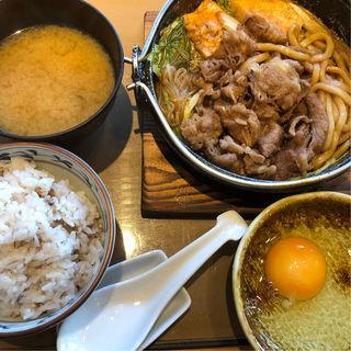 すき焼き定食(やよい軒 京都八幡店 )