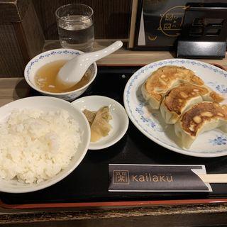 開楽特製 ジャンボ餃子 餃子定食 (3個)(開楽 本店 )