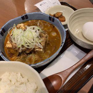 ■じっくり煮込んだ牛スジ豆腐定食(ぎんぶた 浜松町貿易センタービル店 )