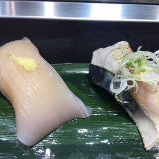 いかみみ、しめ鯖(立食い寿司 根室花まる)