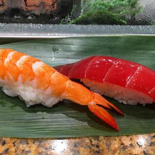 海老、漬けマグロ(魚がし日本一 エキュート品川サウス店 )
