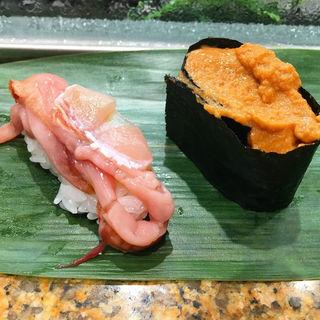 赤貝ひも、海老みそ(魚がし日本一 エキュート品川サウス店 )
