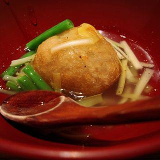 黄ニラと蓮根饅頭