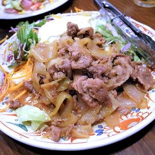 豚肉のしょうが焼き(居酒屋 花門 )