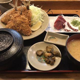 アジ、刺身定食(魚乙 )