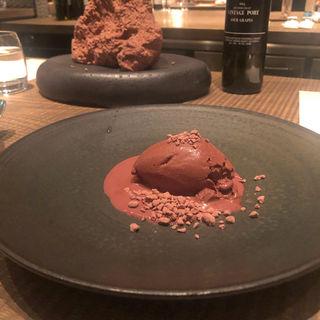 岩塩のチョコレートムース(ラス (L'AS))