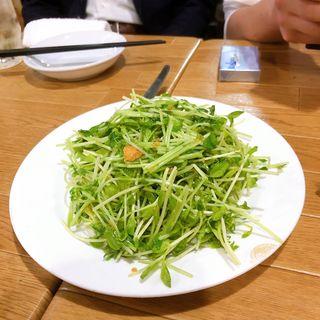 豆苗のニンニク炒め(高記食府 )