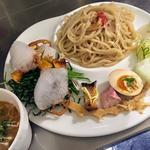 ベジつけ麺 海老とトマトの鶏白湯スープ
