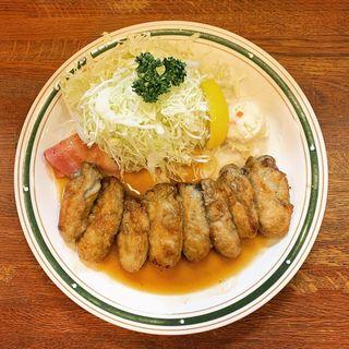 カキバター焼き定食(肉)(かつれつ四谷たけだ )