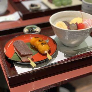 クリームみつ豆(追分だんご本舗 新宿本店 (おいわけだんごほんぽ))