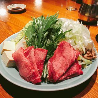 牛タンしゃぶしゃぶ(炭焼 万作 (マンサク))