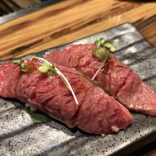 炙り近江牛握り寿司(近江牛焼肉ひゃくいちや)