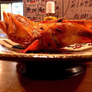 釣りきんき塩焼(夜ノ焼魚 ちょーちょむすび)