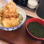 海老と鶏の天丼(みそ汁付き)(さん天 巽北店 )