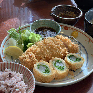 京野菜とロースカツ御膳(和心とんかつ あんず (わごころとんかつあんず))