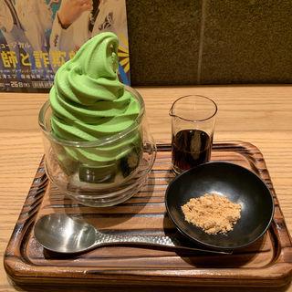 抹茶ゼリーソフト(林屋新兵衛 日比谷店)