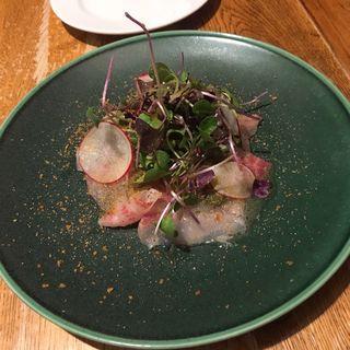 真鯛のカルパッチョ(ビストロサイダ)