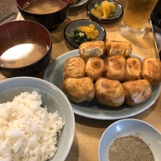 餃子定食 10個(ファイト餃子)